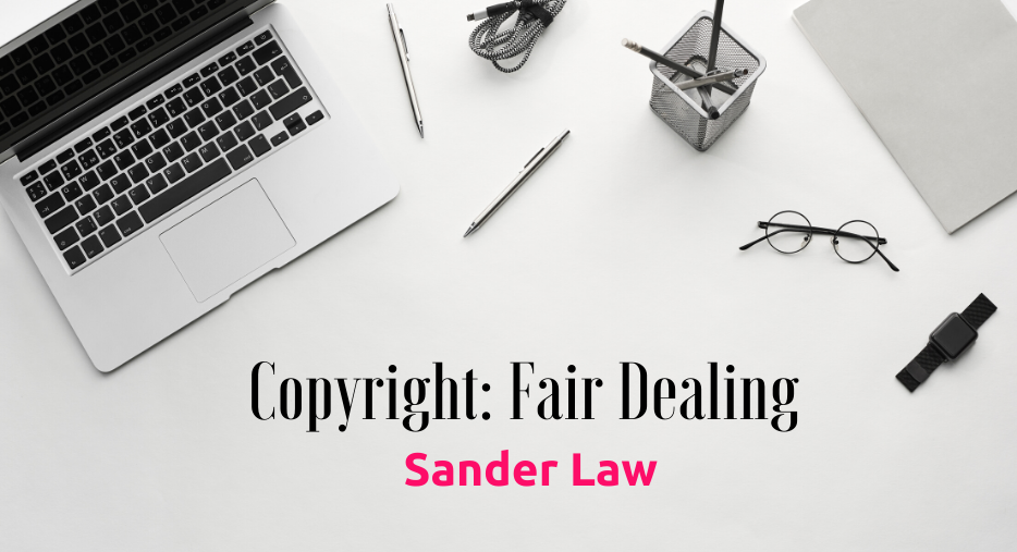 Copyright Fair dealing